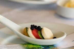 Mini Caprese SaladBoconcinni Cheese, Basil, Cherry Tomato served with Balsamic Pearls