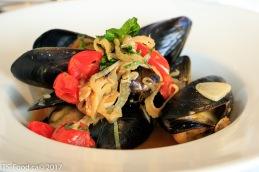 SaltSpring Island steamed musselsTomato, fennel, white wine broth